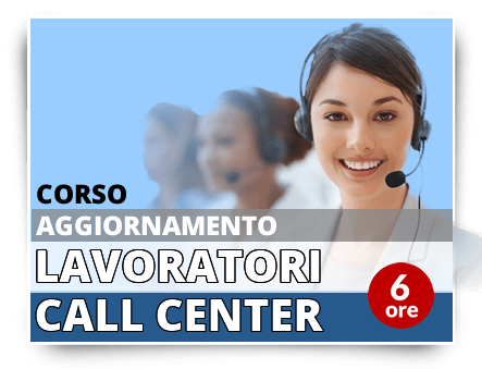 Locandina Aggiornamento lavoratori - Addetti Contact Center