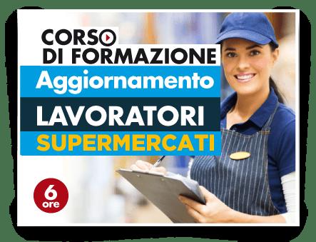 Locandina Aggiornamento lavoratori - Addetti Vendite Supermercati