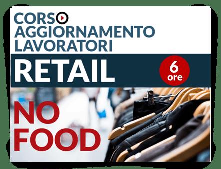 Locandina Aggiornamento lavoratori - Attività Retail No Food