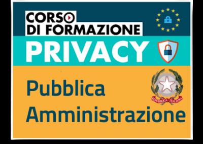 Formazione GDPR – Protezione dati personali nella Pubblica Amministrazione