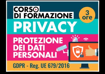 Formazione GDPR – Protezione dati personali