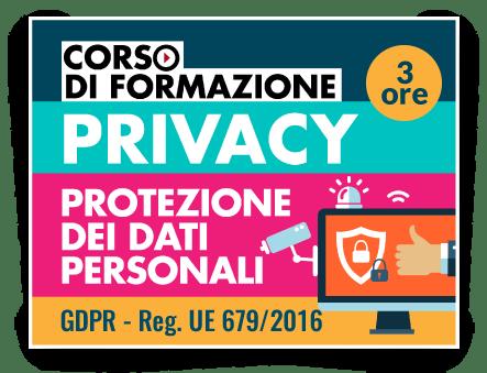 Locandina Formazione GDPR - Protezione dati personali