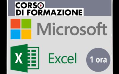 Formazione di base sul Prodotto Microsoft OFFICE – Excel 2013-2016-2019-365