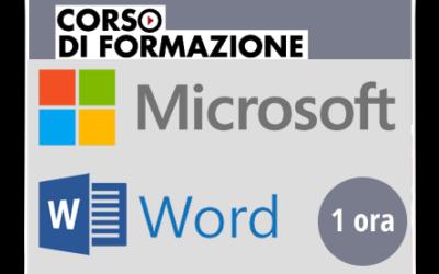Formazione di base sul Prodotto Microsoft OFFICE – Word 2013-2016-2019-365