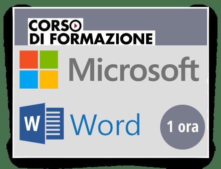 Locandina Formazione di base sul Prodotto Microsoft OFFICE - Word 2013-2016-2019-365