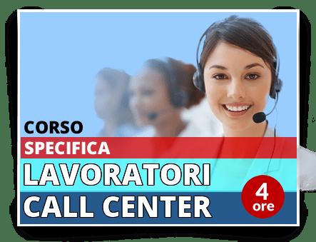 Locandina Formazione specifica lavoratori - Addetti Contact Center