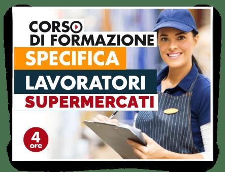 Locandina Formazione specifica lavoratori - Addetti Vendite Supermercati